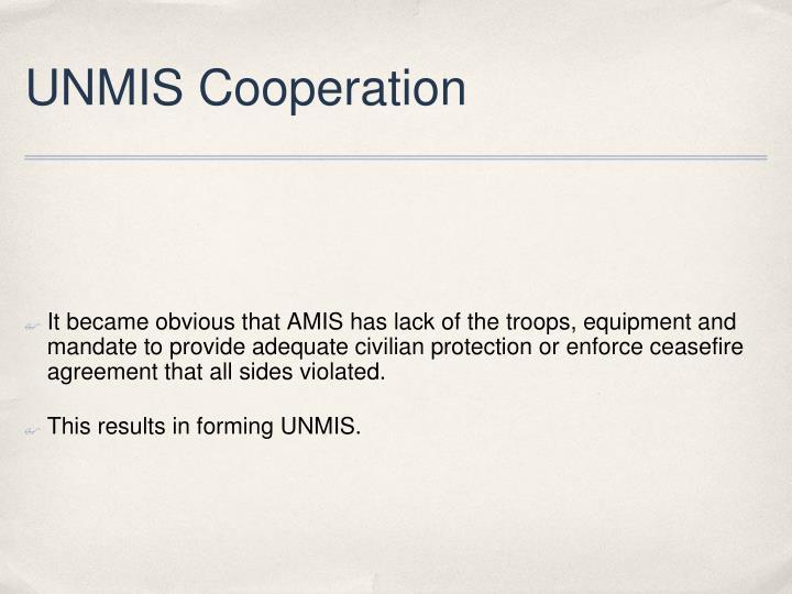 UNMIS Cooperation