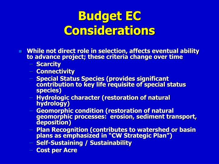 Budget EC
