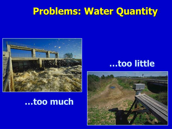 Problems: Water Quantity