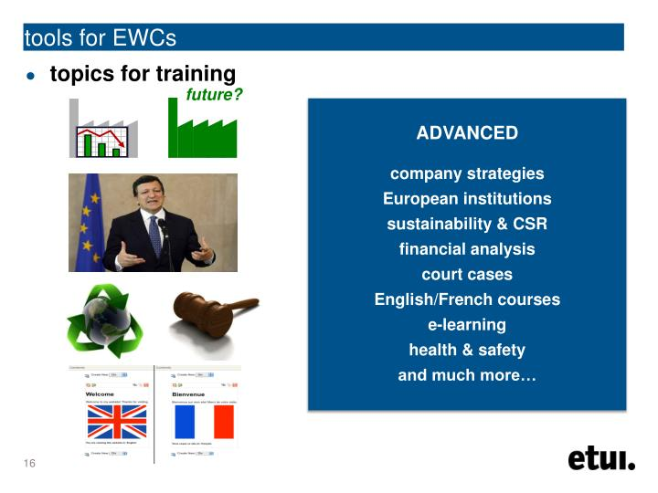 tools for EWCs