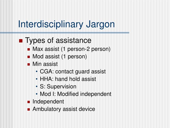 Interdisciplinary Jargon