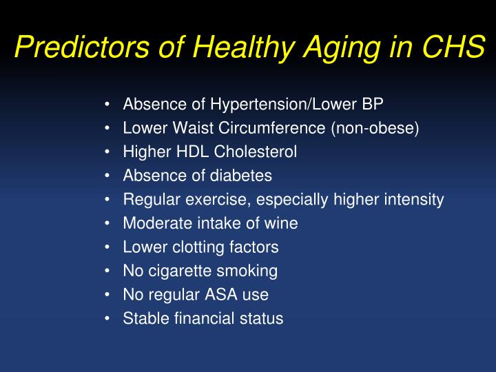 Predictors of Healthy Aging in CHS