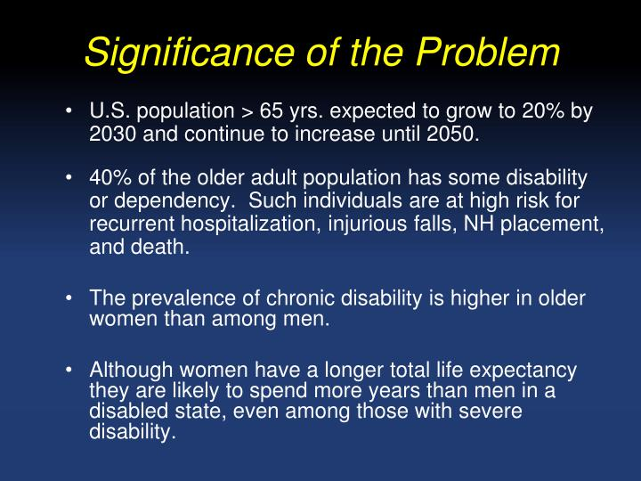 Significance of the Problem