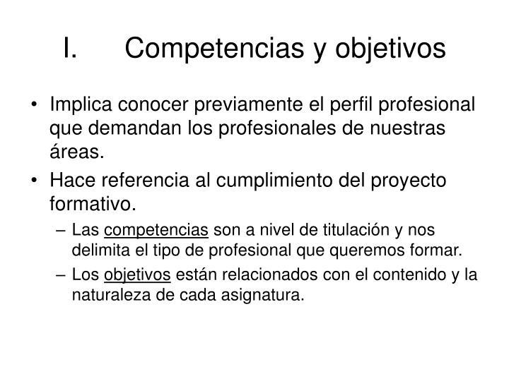 Competencias y objetivos