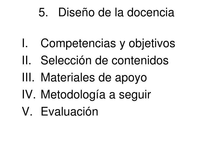 Diseño de la docencia