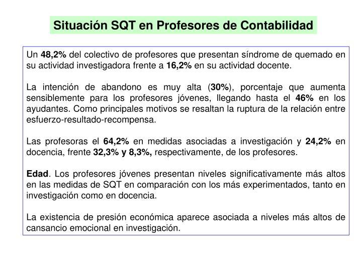 Situación SQT en Profesores de Contabilidad