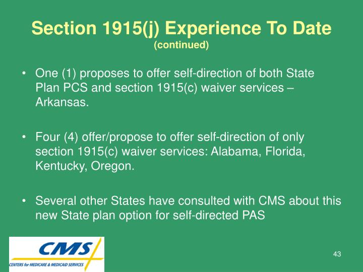 Section 1915(j) Experience To Date