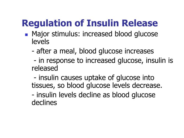 Regulation of Insulin Release