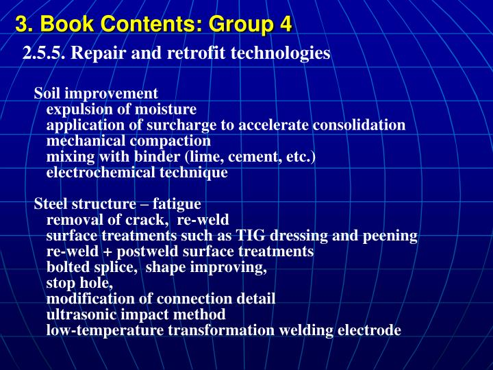 3. Book Contents: Group 4