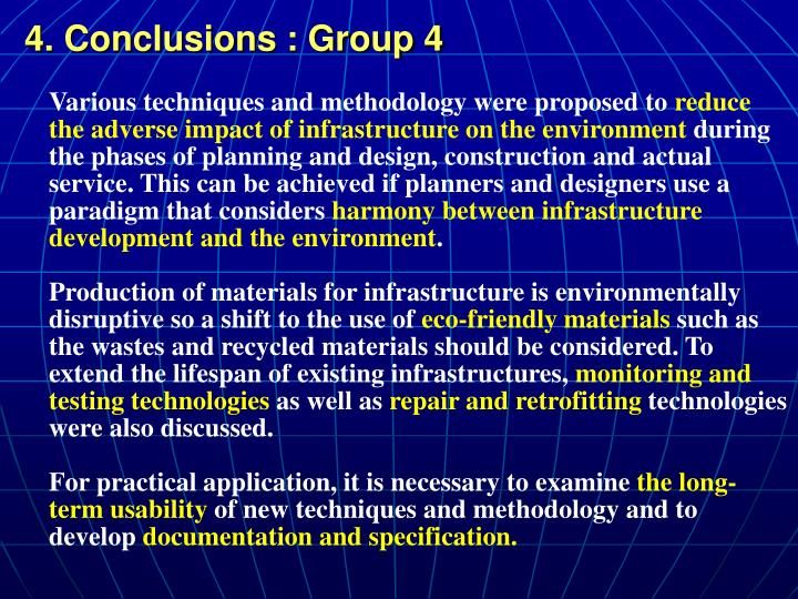 4. Conclusions : Group 4