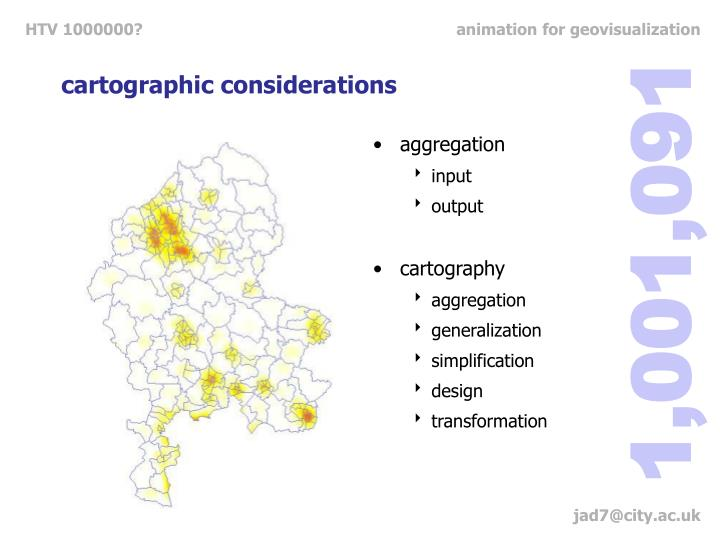 cartographic considerations