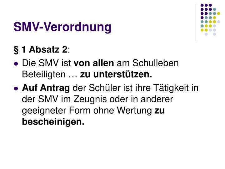 SMV-Verordnung