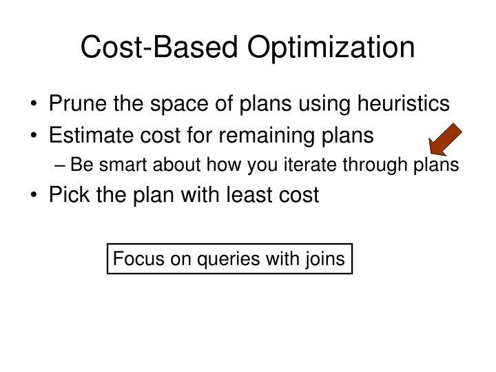 Cost-Based Optimization