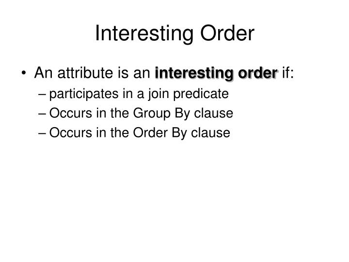 Interesting Order