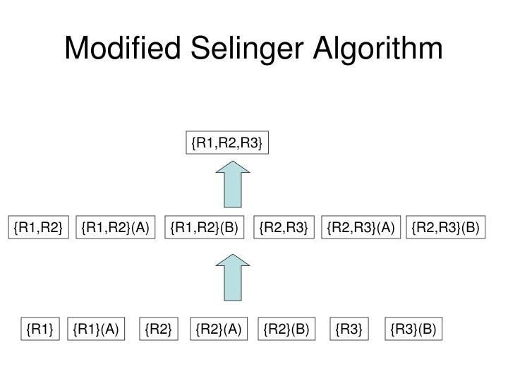 Modified Selinger Algorithm