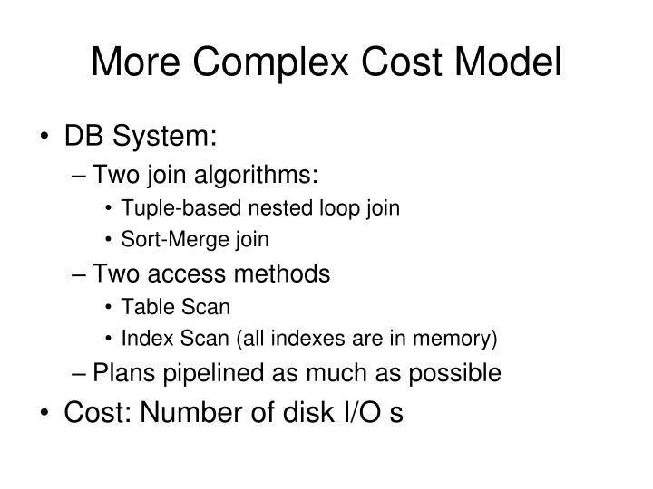 More Complex Cost Model