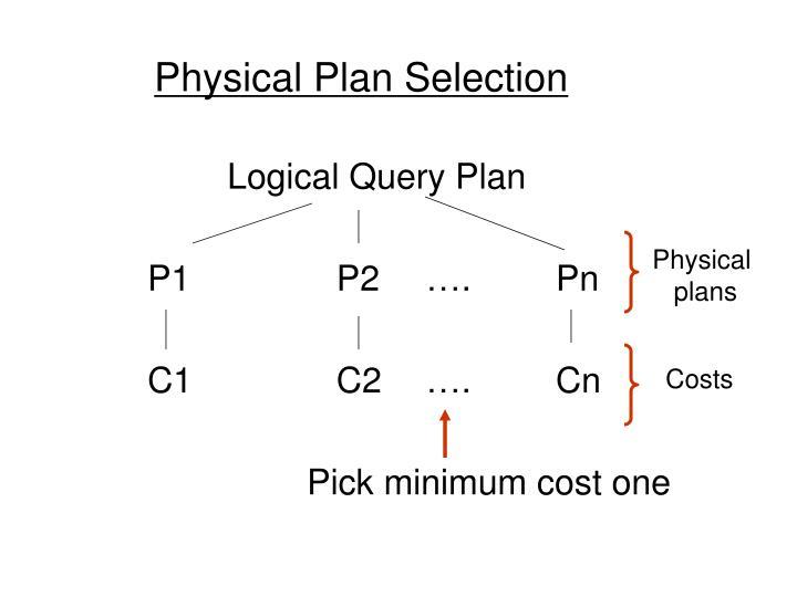 Physical Plan Selection