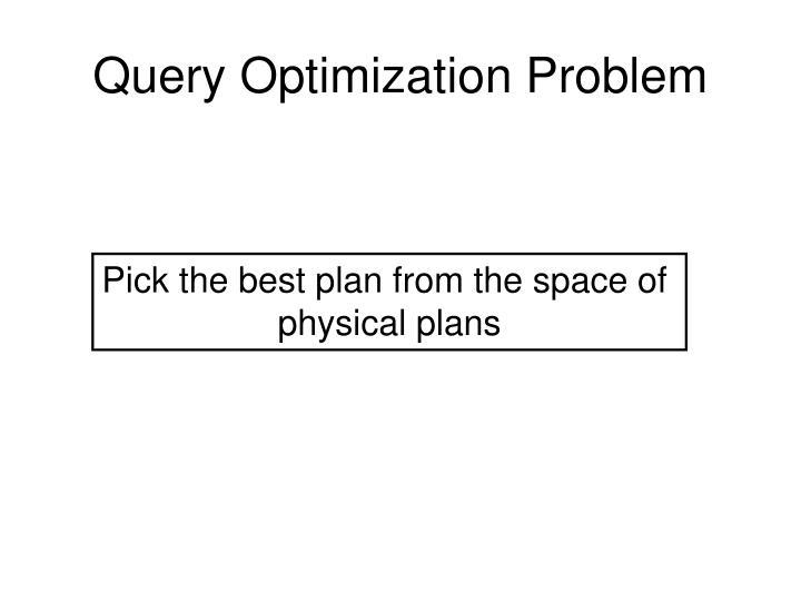 Query Optimization Problem