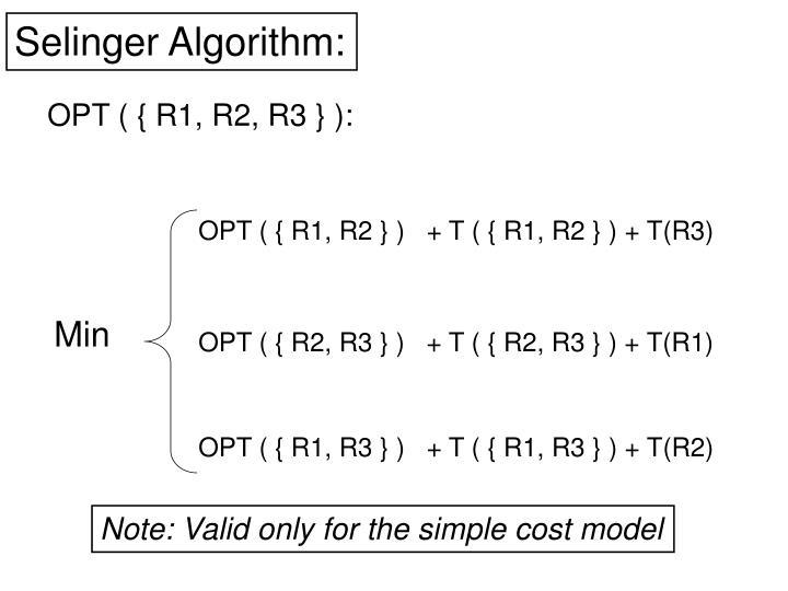 Selinger Algorithm: