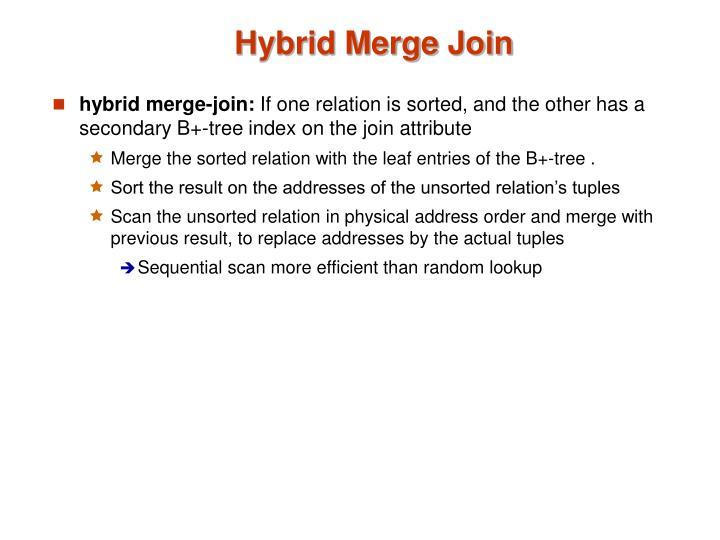 Hybrid Merge Join