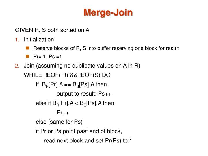 Merge-Join