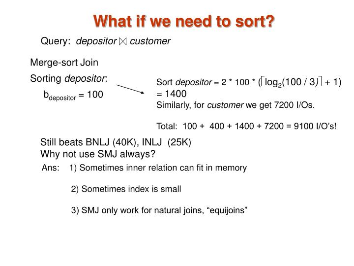 What if we need to sort?