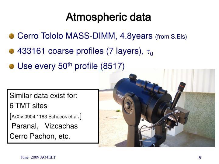 Atmospheric data