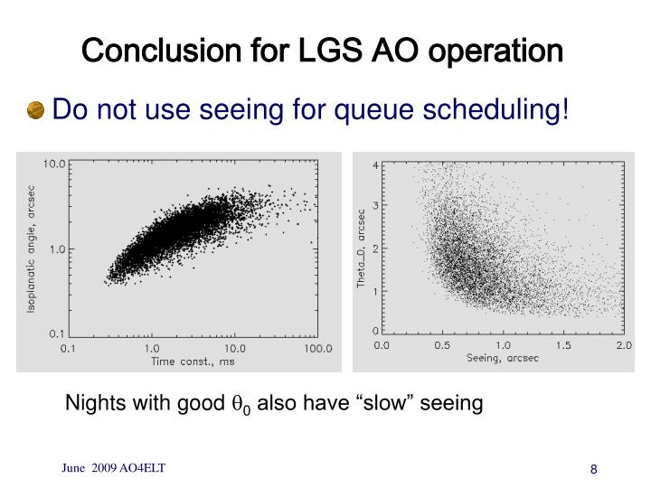 Conclusion for LGS AO operation