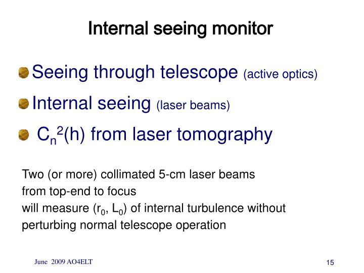Internal seeing monitor