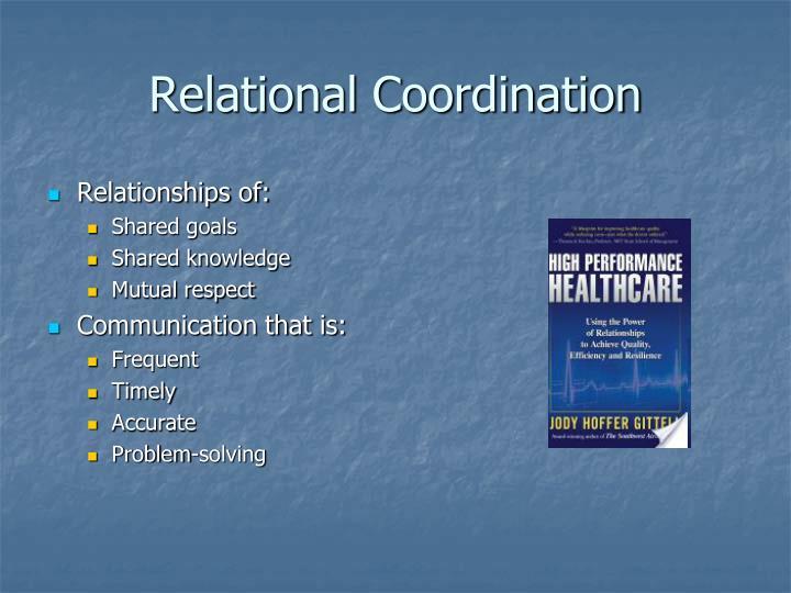 Relational Coordination