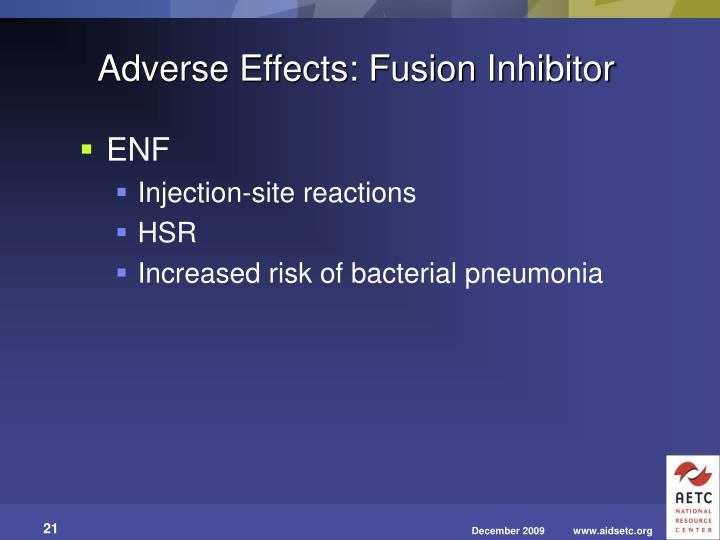 Adverse Effects: Fusion Inhibitor