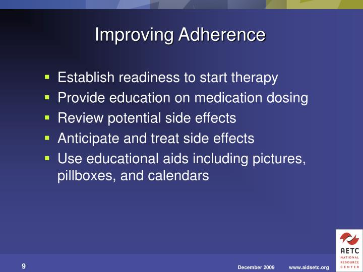 Improving Adherence