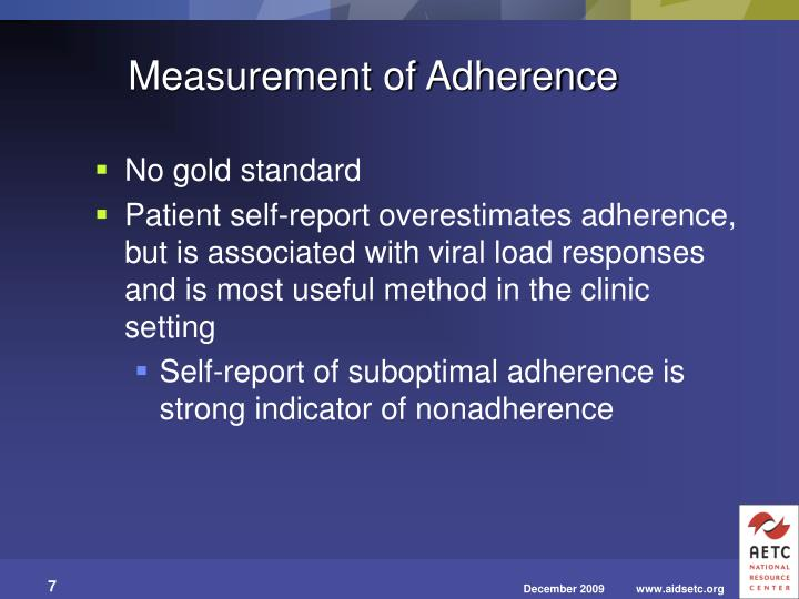 Measurement of Adherence