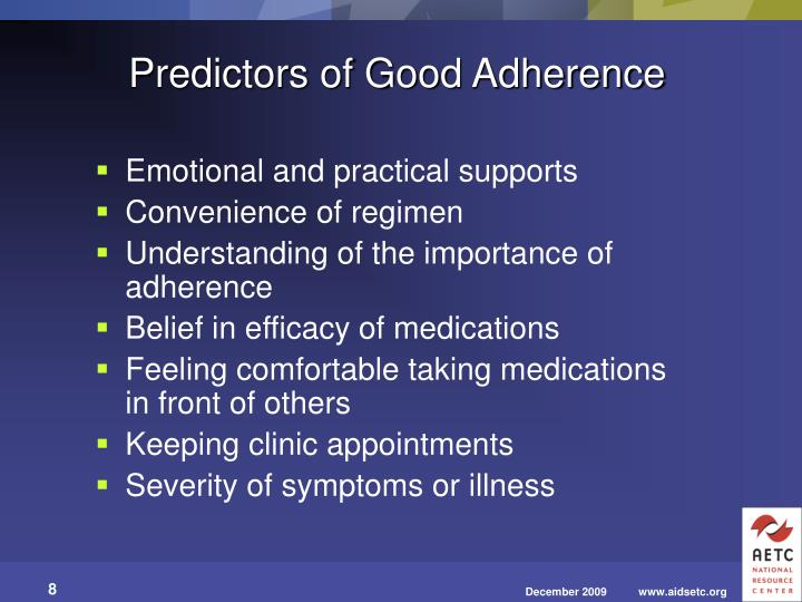 Predictors of Good Adherence