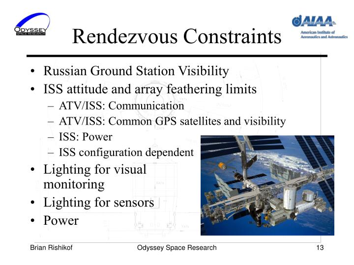 Rendezvous Constraints