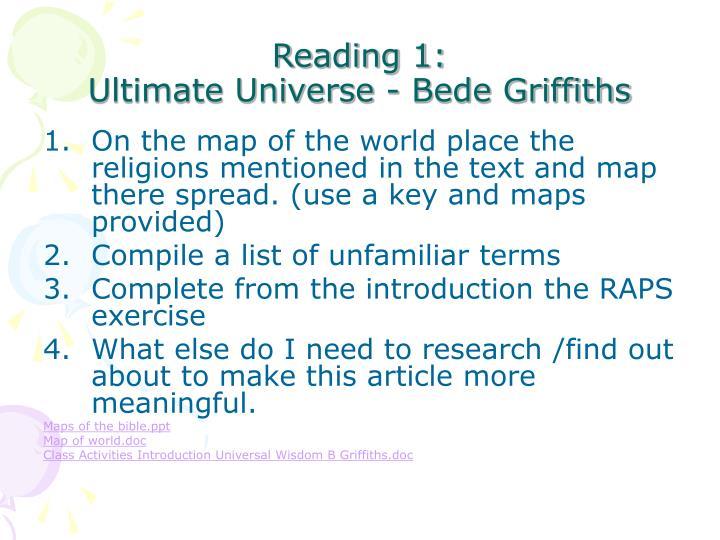 Reading 1:
