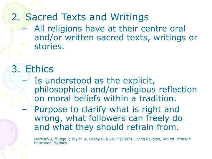 Sacred Texts and Writings