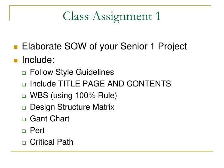 Class Assignment 1