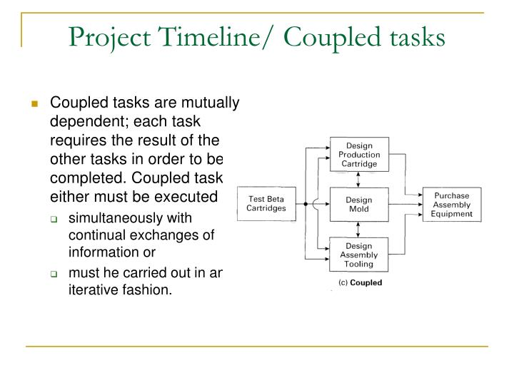Project Timeline/ Coupled tasks