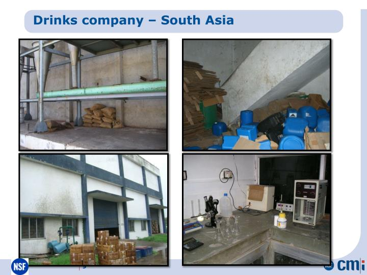 Drinks company – South Asia