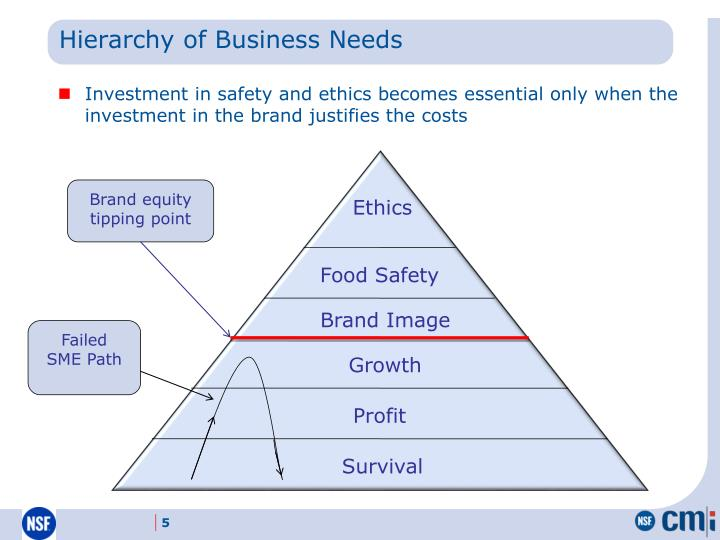 Hierarchy of Business Needs