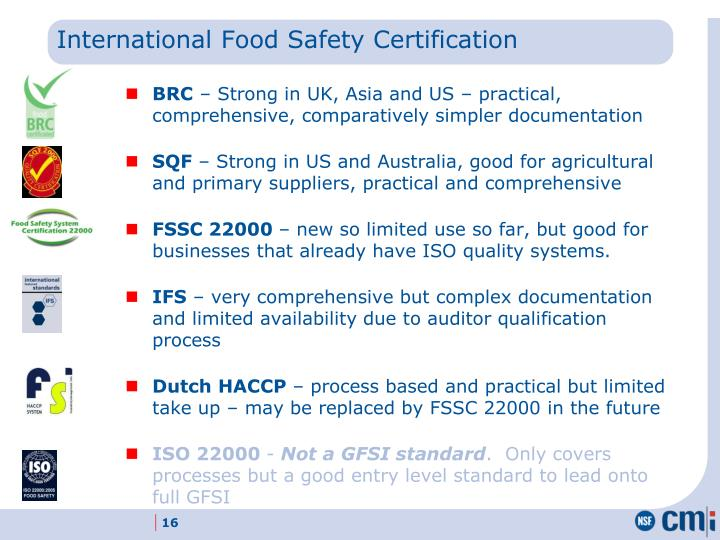 International Food Safety Certification