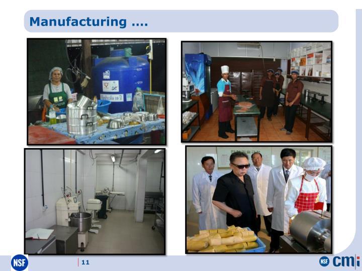 Manufacturing ….