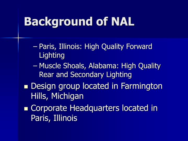 Background of NAL