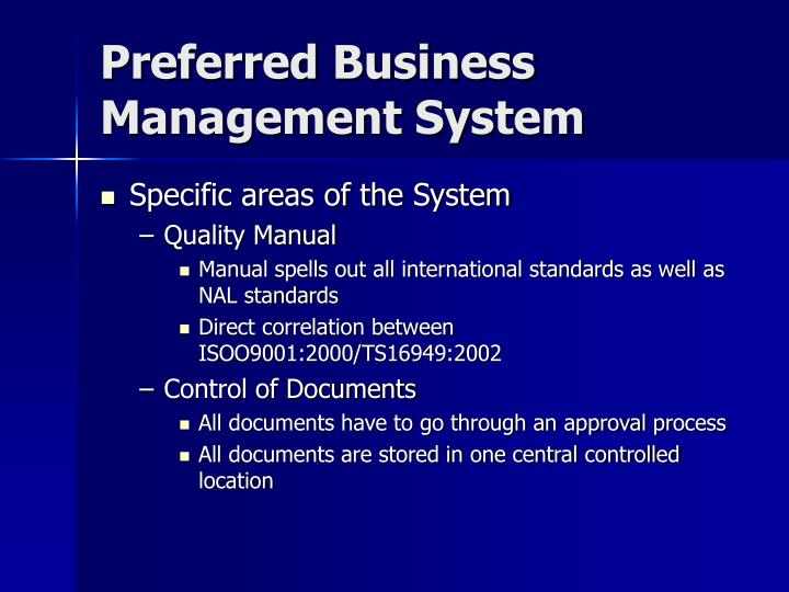 Preferred Business Management System