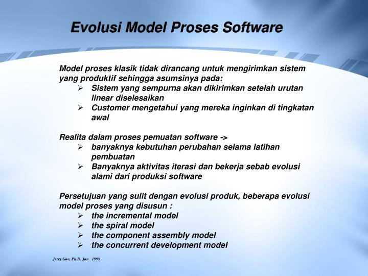 Evolusi Model Proses Software