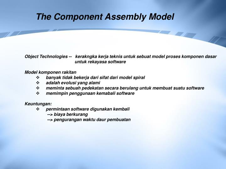 The Component Assembly Model