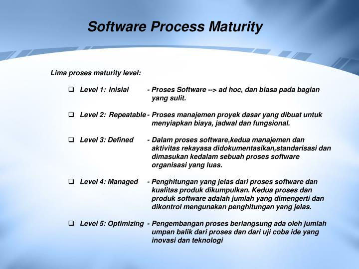 Software Process Maturity