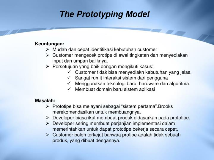 The Prototyping Model