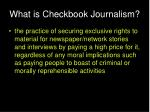 what is checkbook journalism